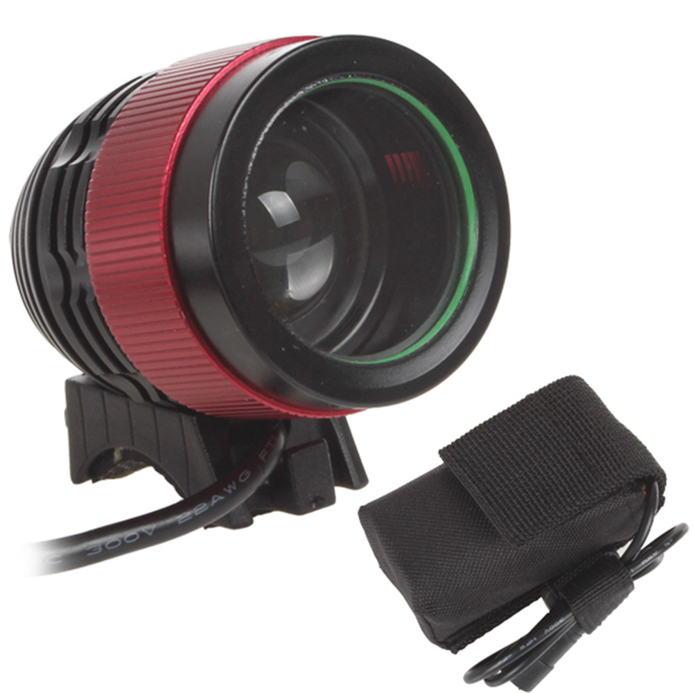 Wholesale 2000LM 1x XM L T6 LED Focusing Bicycle Light Head Light Rechargeable Battery Pack Included