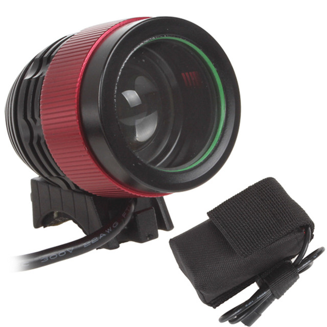 Wholesale 2000LM 1x XM-L T6 LED Focusing Bicycle Light & Head Light Rechargeable Battery Pack Included