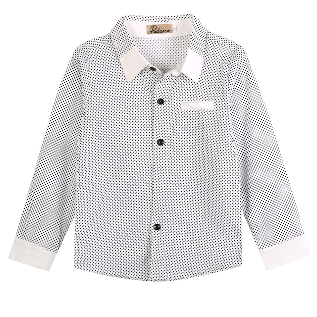 138f0262b New Brand For Kids Boys Formal Shirt Plain Casual Long Sleeved Lapel Party  Cotton T-Shirt