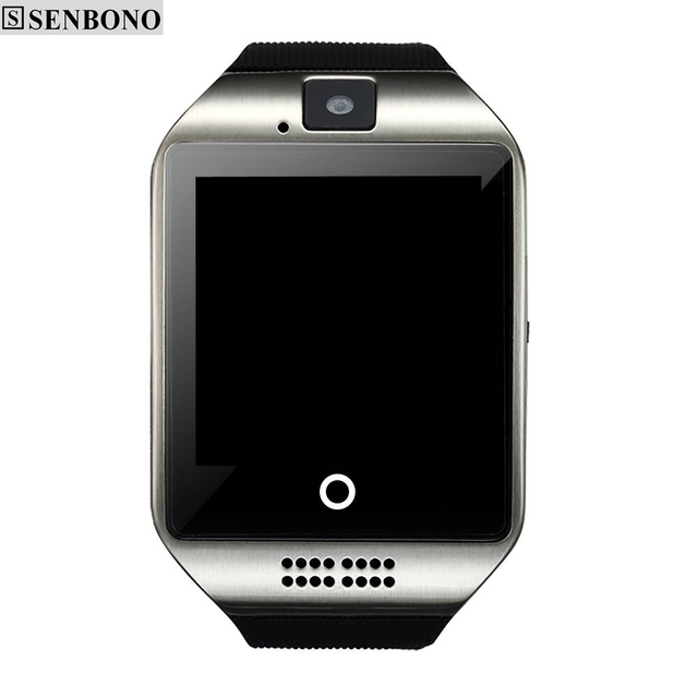 Free Shipping SENBONO SBN-Q18 Touch Screen Smart Watch support Anti-lost Bluetooth Notification Pedometer for Android Phone