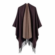 2019 Newest Fashion Autumn Winter Warm Poncho And Capes For Women Oversized Shawls Wraps Cashmere Pashmina Female Bufanda