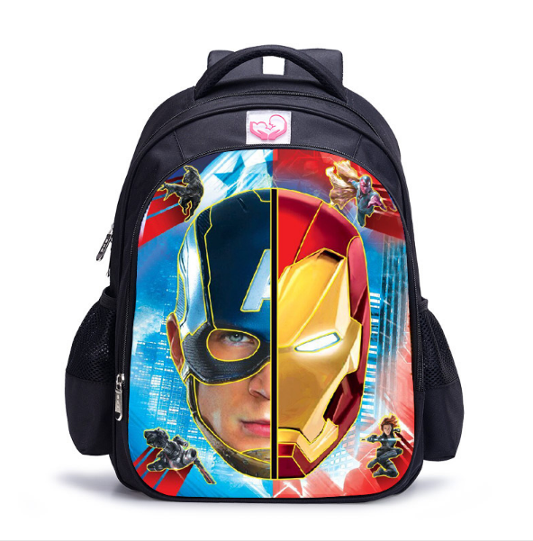 16 Inch Avengers Iron Man Captain America Cartoon Children Backpack Student School  Bags Mochila for Teenage Kids Boys Girls Gift aaf2a27e71e59