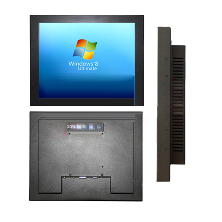 17 pouces écran tactile LCD moniteur extérieur industriel A170XGA LCD moniteurs 1920*1080 résolution, trou de suspension murale 100*100 MM