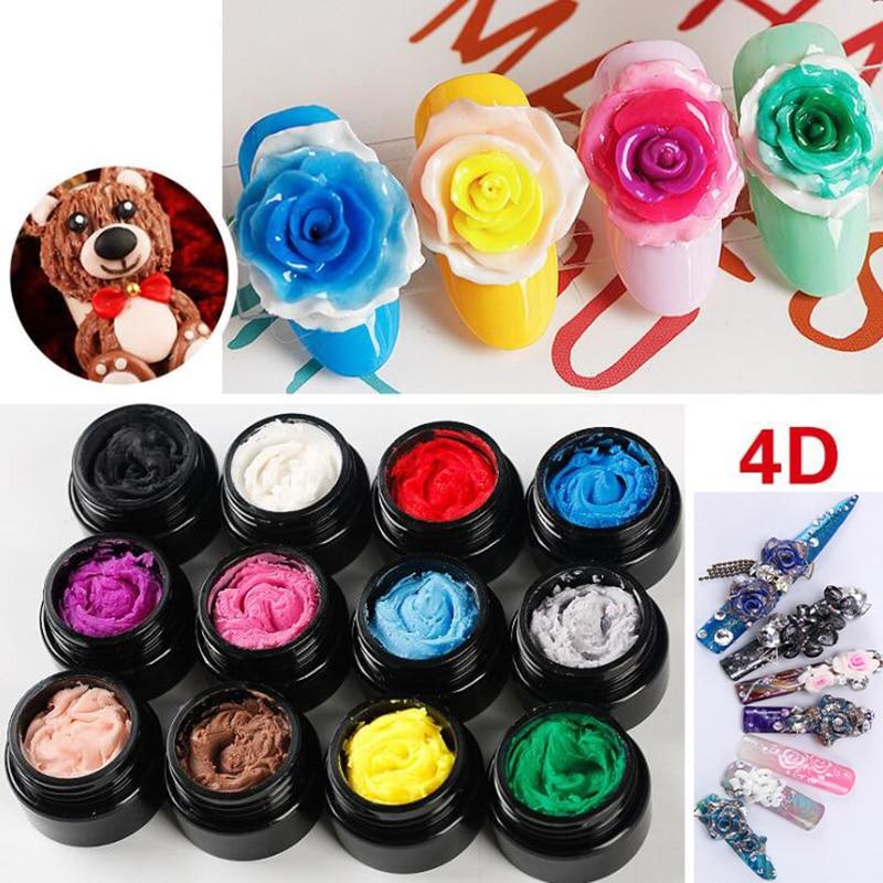 12 Colors 4D Nail LED Gel UV Gel Nails Polish Nail Art Gel 3D Soak Off Gel Polish 1