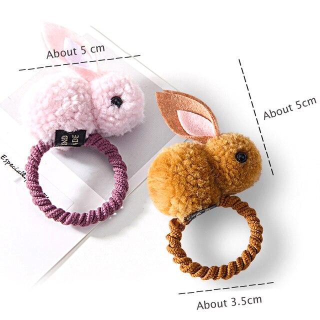 New Cute  Animals Rabbit  Style Hair Bands Felt Three-Dimensional Plush Rabbit Ears Headband For Children Girls Hair Accessories 5