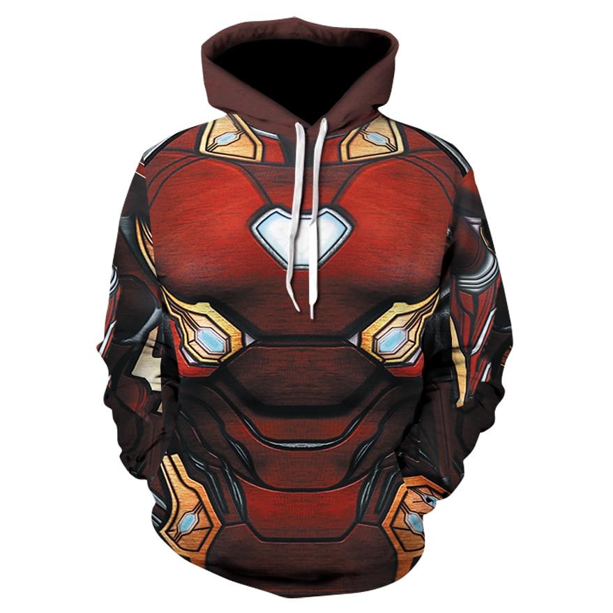 TUNSCEHY 2018 Venda Quente Dos Homens hoodies Moda homens Cospaly Iron Man 3d imprimir Hoodies Streetwear Casuais Camisola
