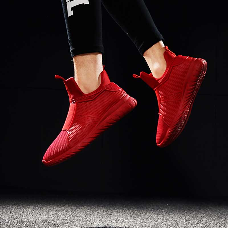 AD AcolorDay High Top Designer Breathable Shoes Men Slip on Air Mesh Luxury Mens Shoes Fly
