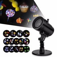 2017 Film Projection Lamp Replacement 14 Patterns Movable Spotlight For Halloween Christmas Wedding Birthday Decoration B00002
