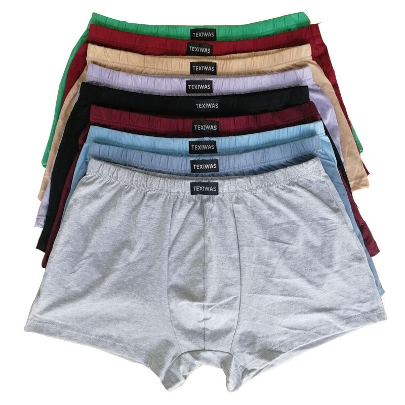 100% cotton  Big size underpants men's Boxers plus size  large size shorts breathable cotton underwear 5XL 6XL 4pcs/lot 1