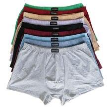 100% coton grande taille caleçons hommes boxeurs grande taille grande taille shorts respirant coton sous-vêtements 5XL 6XL 4 pcs/lot
