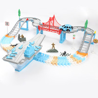 DIY Hot Wheel Car Children Mini Fast Track Toys Electric Variety Multi track Magic Racing Assembling Toy Set Baby Gifts