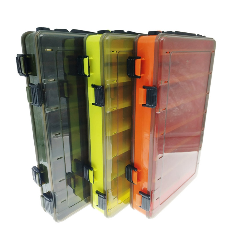 Ocean Fishing Tackle Box Double Sided Portable Organization Case Box For Artificial Baits Lure fishing equipment new
