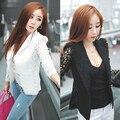 Новое Прибытие женщин Элегантный Пальто Кружева Сращивание Тонкий Пиджак Моды Случайные Верхняя Одежда