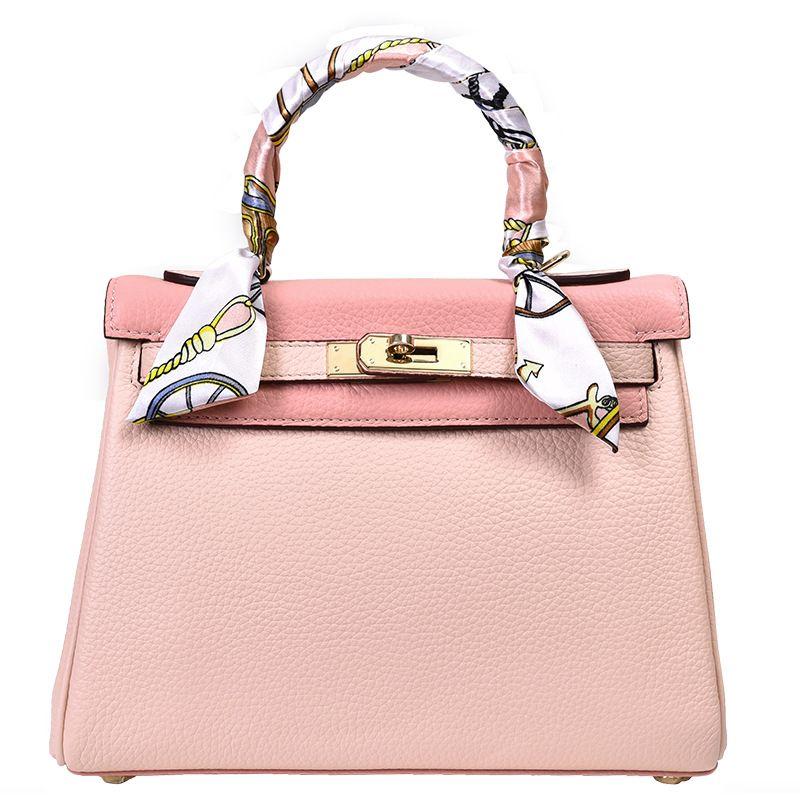 цена LOEIL Leather bag lychee female small bag handbag contrast color pink shoulder Messenger bag