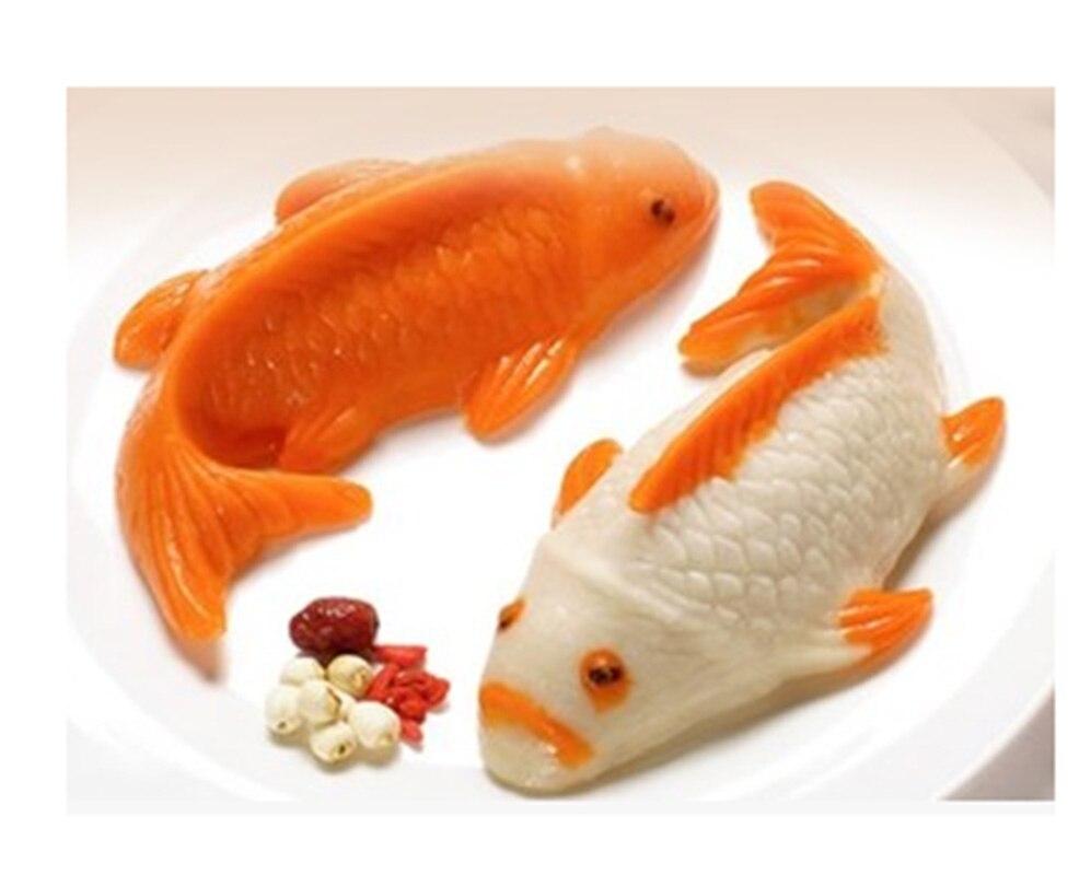 Moule à gâteau de riz en silicone carpe | pot chaud de beurre, poudre de glace, moule à gâteau de poisson rouge