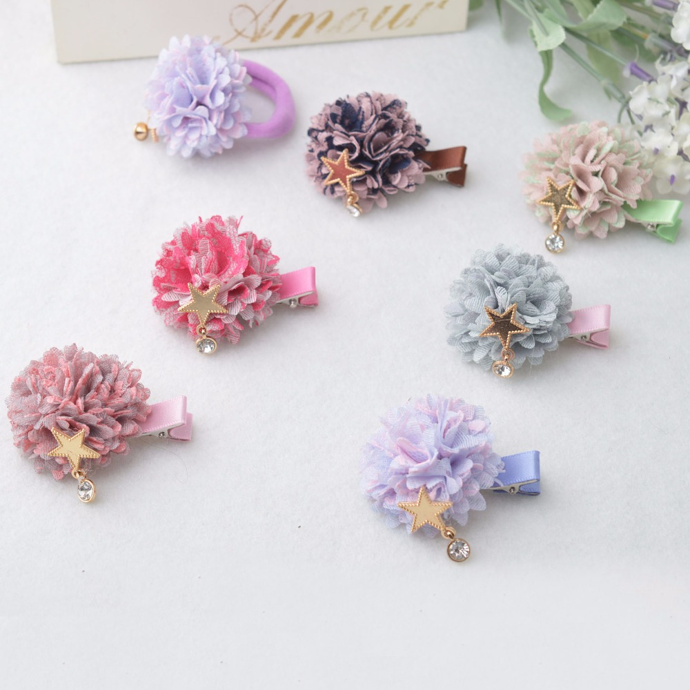 Girl Hair Clips Flower Hair Clip Cute Hairpins Fashion Party Gift Barrettes hair rope Accessories fashion gift cute clip girl kid bow hair clips candy red random color barrettes resin hairpins boutique hair jewelry accessories