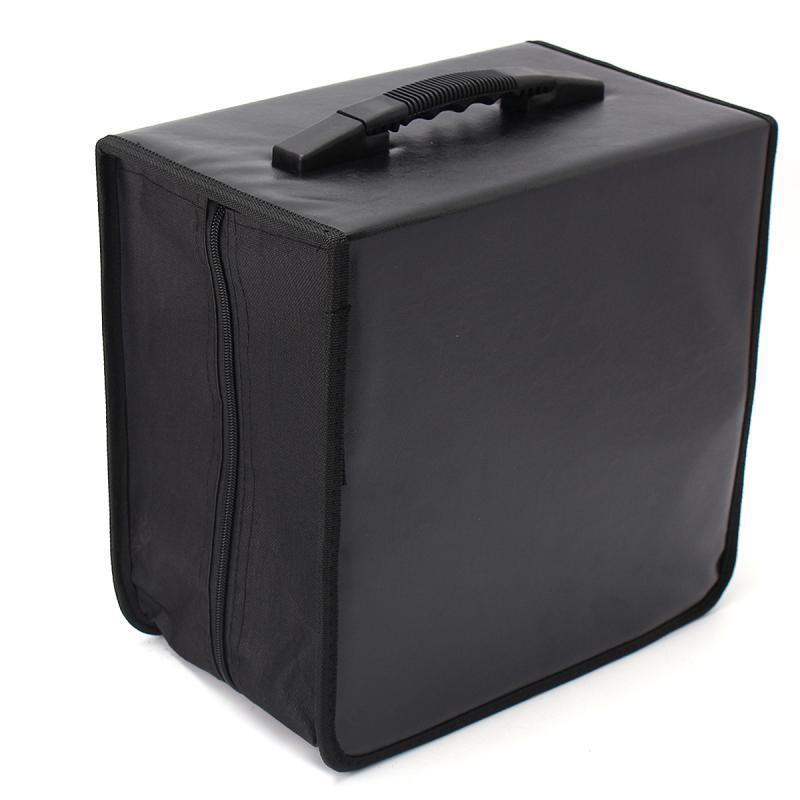 Handheld 520 Discs CD DVD Wallet Storage Bag Case Album Organizer Media Products Black PU Leather Discs Storage Box Accessories