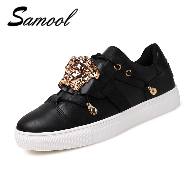 Men Casual Shoes Metal accessories rivet Handmade Mens Shoes Fashion Flats Zapatos Hombres Brand Lace-Up Mens Leather Shoes xz5