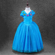 3 Styles Baby Girl Cinderella Dresses Children Girls Party Cosplay Costume Kids Halloween Xmas Dresses Clothes Size 3-10Y
