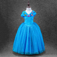 3 Styles Baby Girl Cinderella Dresses Children Girls Party Cosplay Costume Kids Halloween Xmas Dresses Clothes