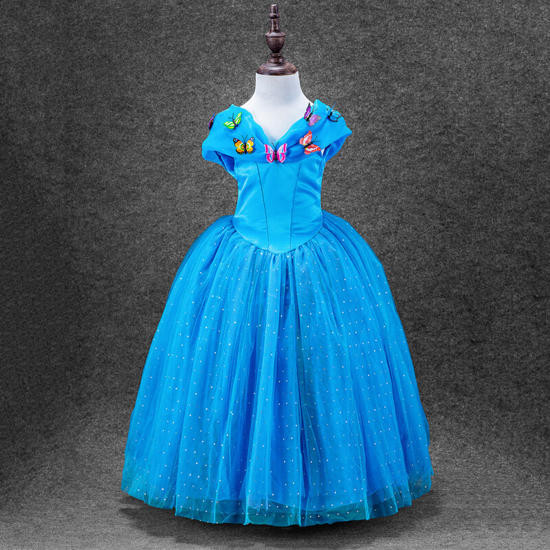 Cinderella Princess Character Dress Child 3t 4t 5 6 7: 3 Styles Baby Girl Cinderella Dresses Children Girls Party