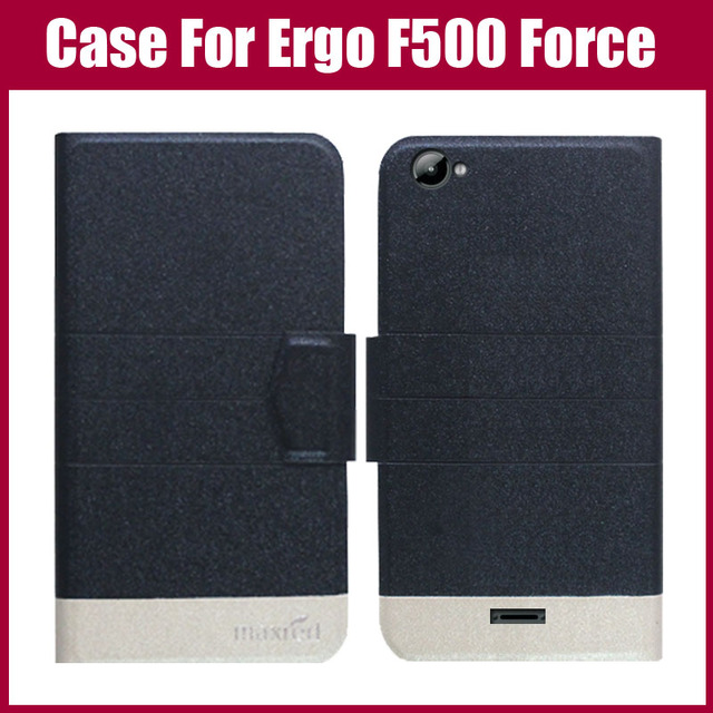 Hot Sale! Ergo F500 Force Case 5 Colors Fashion Flip Ultra-thin Leather Protective Cover For Ergo F500 Force Case