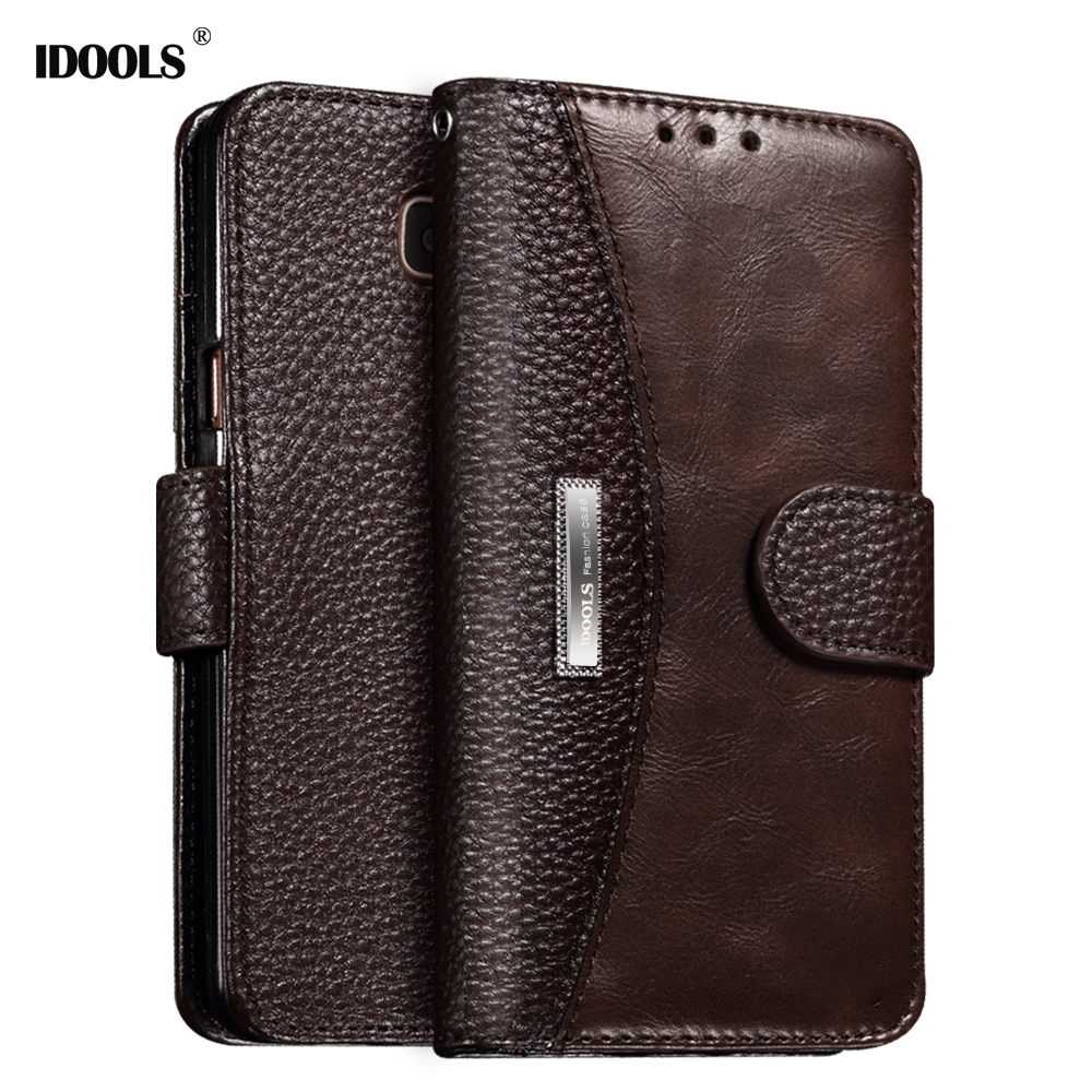 Galleria fotografica IDOOLS A8 2018 Case For Samsung Galaxy A3 2017 A3200 Luxury PU Leather Cover Phone Bags Cases for Samsung A5 2017 A5200 A8 Plus