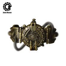 2018 New Punk Retro Quartz Wristwatches Stainless Steel Steampunk Gifts Watch
