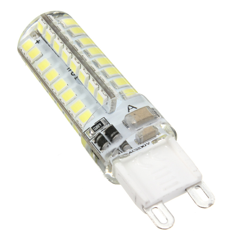 Купить с кэшбэком 10pcs mini G9 led bulb  5W  64leds-smd 2835 silicone led corn bulbs Warm White/Cool White 360 Degree Spot Lights 220V
