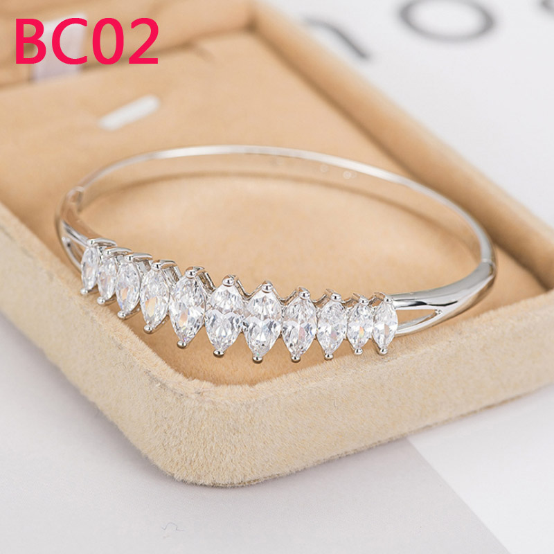 BC02 Hot sale bracelet &bangle for woman with stone or no stone size 16/17/18/19/20 With box