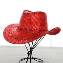 Cowboy hats for men and women type outdoor fishing  sequins  tourist cap Sun hat