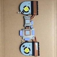 Brand new original laptop heatsink fans For DELL alienware 15E R1 /w3 copper tubes thermal and 2 Fans module 105w
