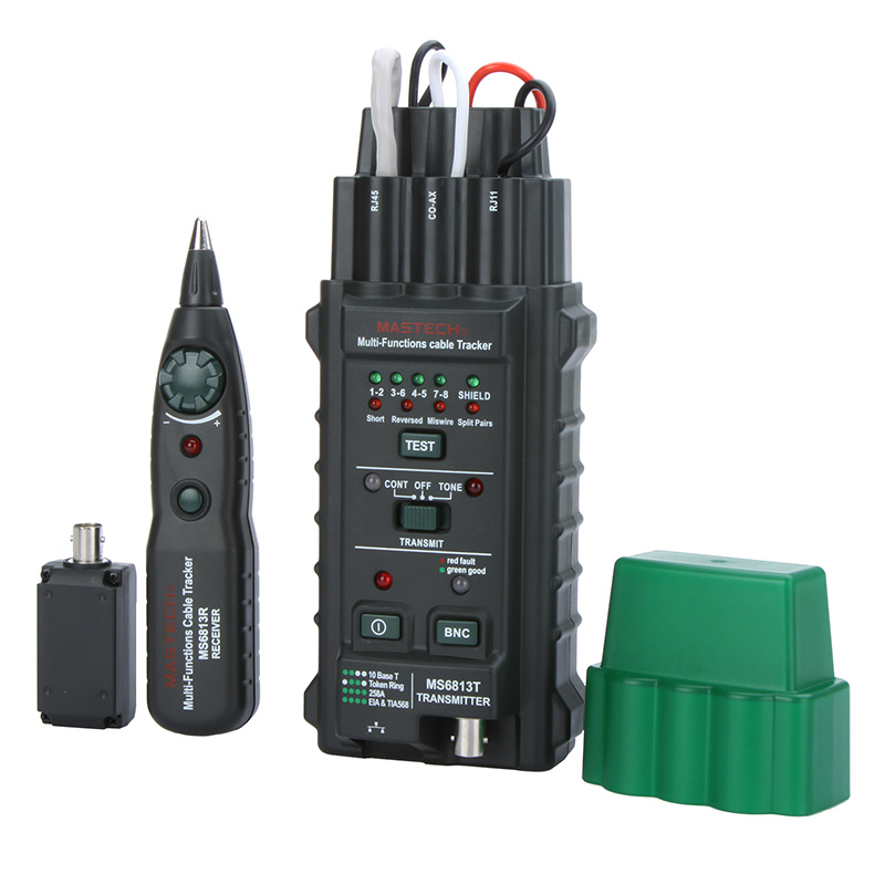 Multifunctional Handheld Network Cable Tester Wire Telephone Line Detector Tracker BNC RJ45 RJ11 1Cat5 Cat6 LAN Cable Tester