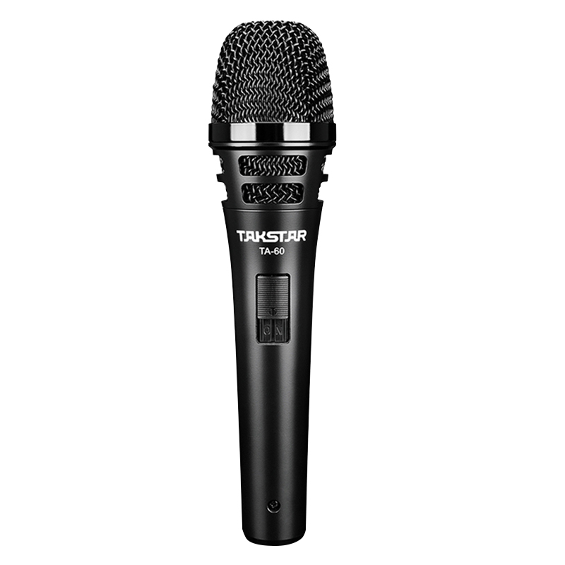 Takstar TA 60 Professional Dynamic Microphone super cardioid polar pattern anti pop noise design low feedback