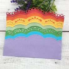 DIY Lace Scrapbooking Embrossing Curved Wavy Border Metal steel  Cutting Dies Embossing Paper Card Making Cards