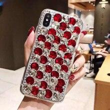 Caixa do telefone Para Xiaomi 10 9 MAX3 5X 6X Redmi 5 6 7 4A 6A 8A Nota 4X 5A 7 6 8T 8 Pro Luxo Strass Brilho caso da tampa De Cristal