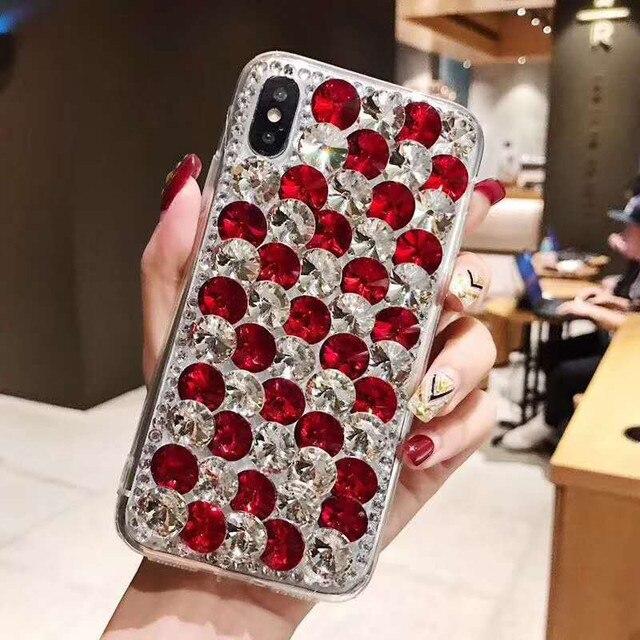 Etui na telefon xiaomi 10 9 MAX3 5X 6X Redmi 5 6 7 4A 6A 8A uwaga 4X 5A 7 6 8T 8 Pro luksusowe dżetów błyszczący pokrowiec pokrywa kryształ