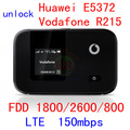unlocked Huawei E5372 Vodafone R215 lte 150Mbps 4g wireless router 4g wifi Dongle 4g mifi FDD 1800/2600/800 pk e5786 e3276 e5776