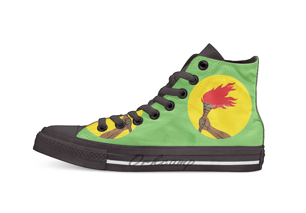 Flag of Zaire 1971 1997 High Top Canvas Shoes Flat Casual Custom Unisex Sneaker Drop Shipping