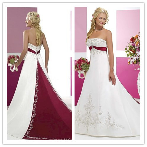57f71d890c17 Abiti da sposa bianco e rosso 2016 – Modelli alla moda di abiti 2018