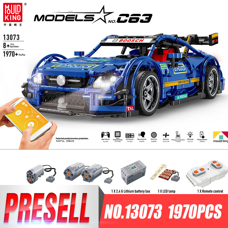 DHL 13073 Technic Series Compatible With Legoing MOC-6687 Blue Racing Car Set Building Blocks Bricks App Control RC Cars Kid ToyDHL 13073 Technic Series Compatible With Legoing MOC-6687 Blue Racing Car Set Building Blocks Bricks App Control RC Cars Kid Toy