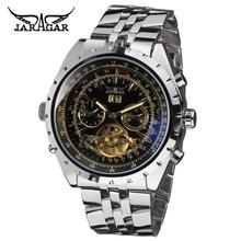 JARAGAR Men Luxury Brand Watch Stainless Steel Watches Tourbillion Automatic Mechanical Wristwatches Gift Box Relogio Releges цена