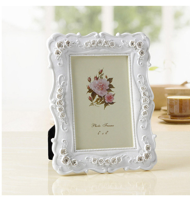 Creative Photo Frame Roses Flowers Crystal Diamond White Europe ...