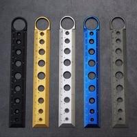 EDC Self defense Tool Titanium Alloy Defense Ruler Multifunction Drawing Ruler Rotary Ruler 15CM Measuring Rule Defence