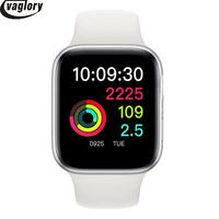 IWO 8 Smart watch 44mm Case Red Circle Button Smart Wearable Device For IOS & Android Support SMS Facebook Message Push