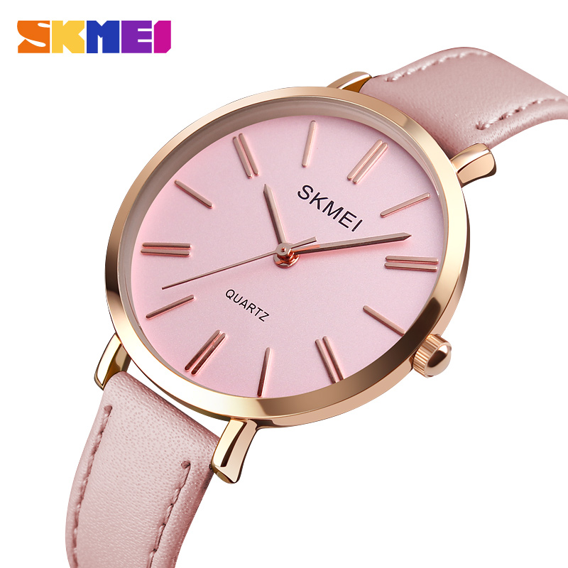 SKMEI Fashion Women Watches Casual Leather Strap Watch Simple 3bar Waterproof Quartz Wristwatches ladies Relogio Feminino 1397SKMEI Fashion Women Watches Casual Leather Strap Watch Simple 3bar Waterproof Quartz Wristwatches ladies Relogio Feminino 1397