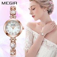 MEGIR Quartz Women Watches Top Brand Luxury Ladies Watch Lover Girl Wristwatches Clock Female Relogio Feminino Montre Femme 4198