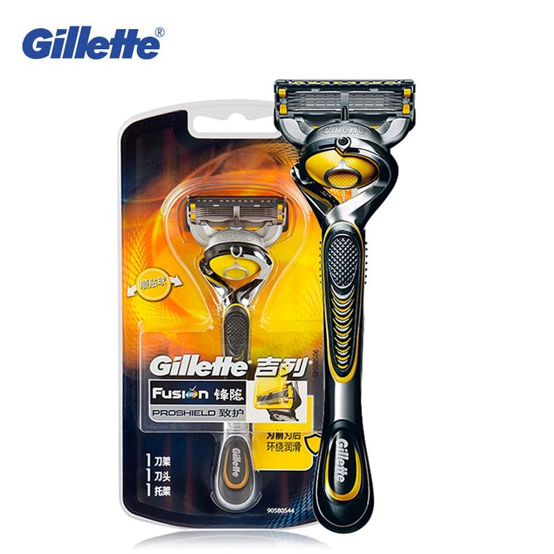 Gillette fusión Proshield Flexball hombres navajas de afeitar la barba pelo  de hombre de afeitar cuchillas de afeitar 1 1 Blade caliente en Maquinillas  de ... 7d5287047f3d