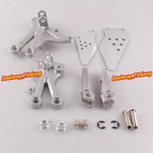 Aleación de aluminio Trasero de Pasajeros Estriberas Reposapiés Soportes para Kawasaki 04-05 NINJA ZX10R, motocicleta piezas de Repuesto Accesorios