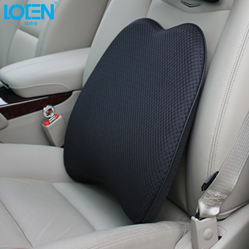 2017 new 1pc memory foam universal office chair car seat cushion lumbar support back pillow black dark red beige coffee brown